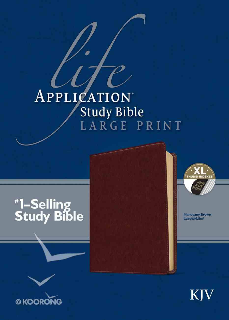 KJV Large Print Life Application Study Bible Indexed Brown (Red Letter Edition) Imitation Leather