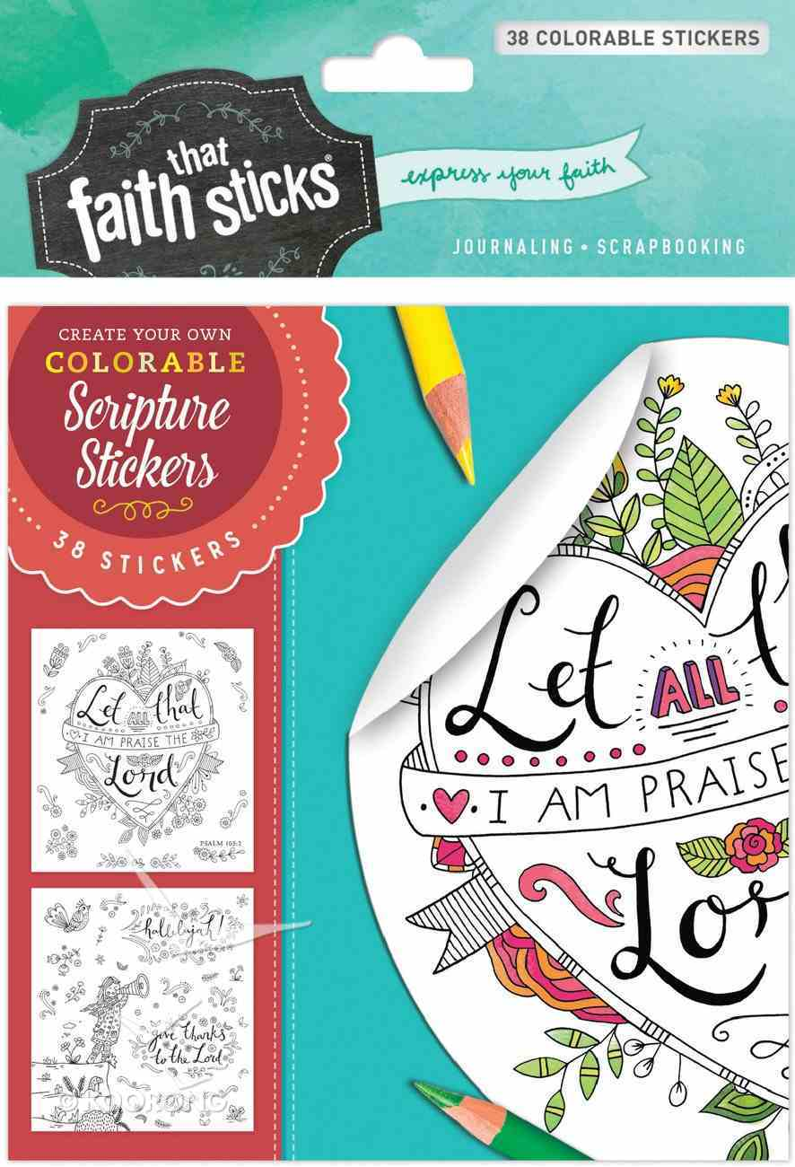 Psalm 103: 2 (4 Sheets, 38 Colorable Sheets) (Stickers Faith That Sticks Series) Stickers