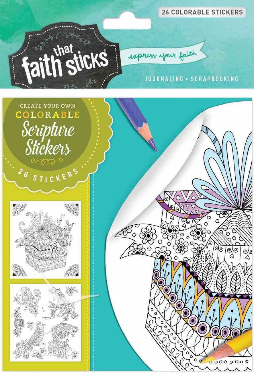 Psalm 16: 11 (4 Sheets, 26 Colorable Stickers) (Stickers Faith That Sticks Series) Stickers
