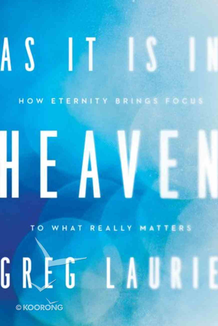 As It is in Heaven Hardback