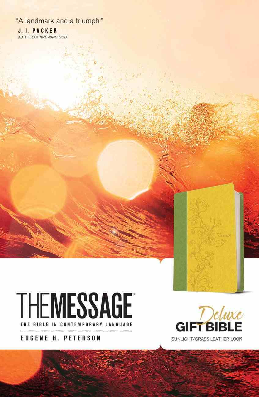 Message Deluxe Gift Bible Sunlight Grass (Black Letter Edition) Imitation Leather