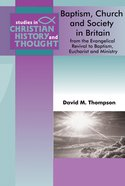 Scht: Baptism, Church & Society In England And Wales