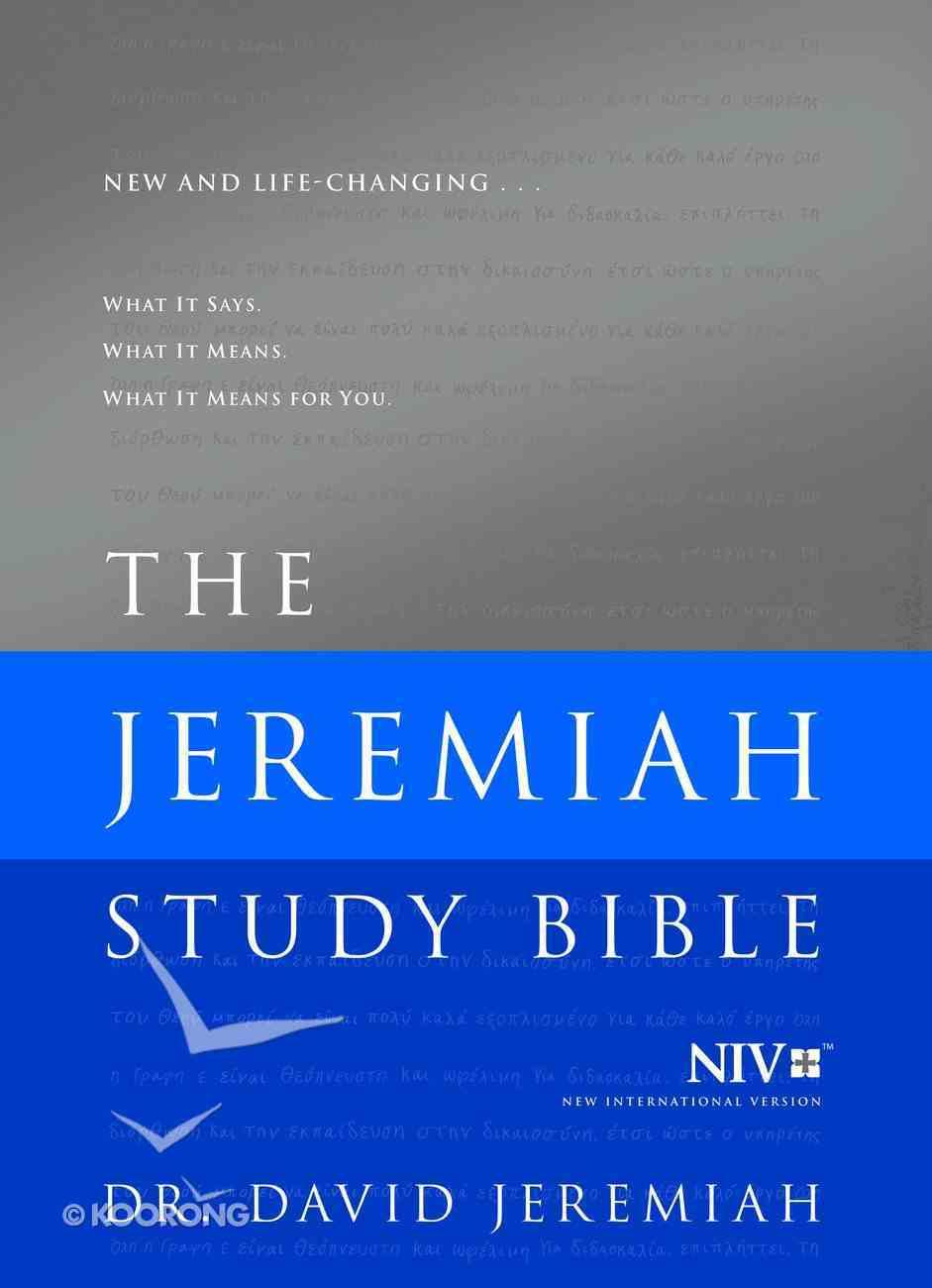 NIV the Jeremiah Study Bible Hardback