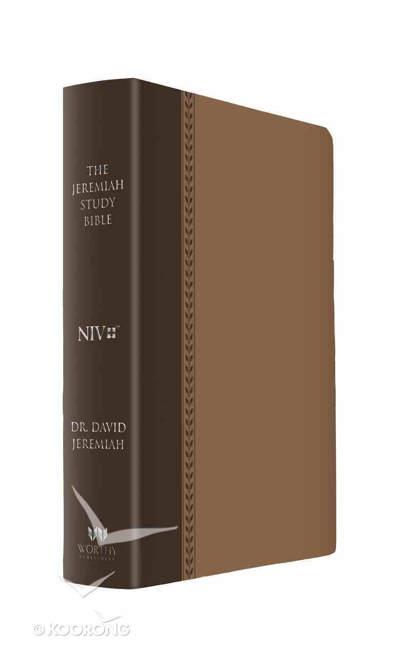 NIV Jeremiah Study Indexed Bible Brown With Burnished Edges Leatherluxe Imitation Leather