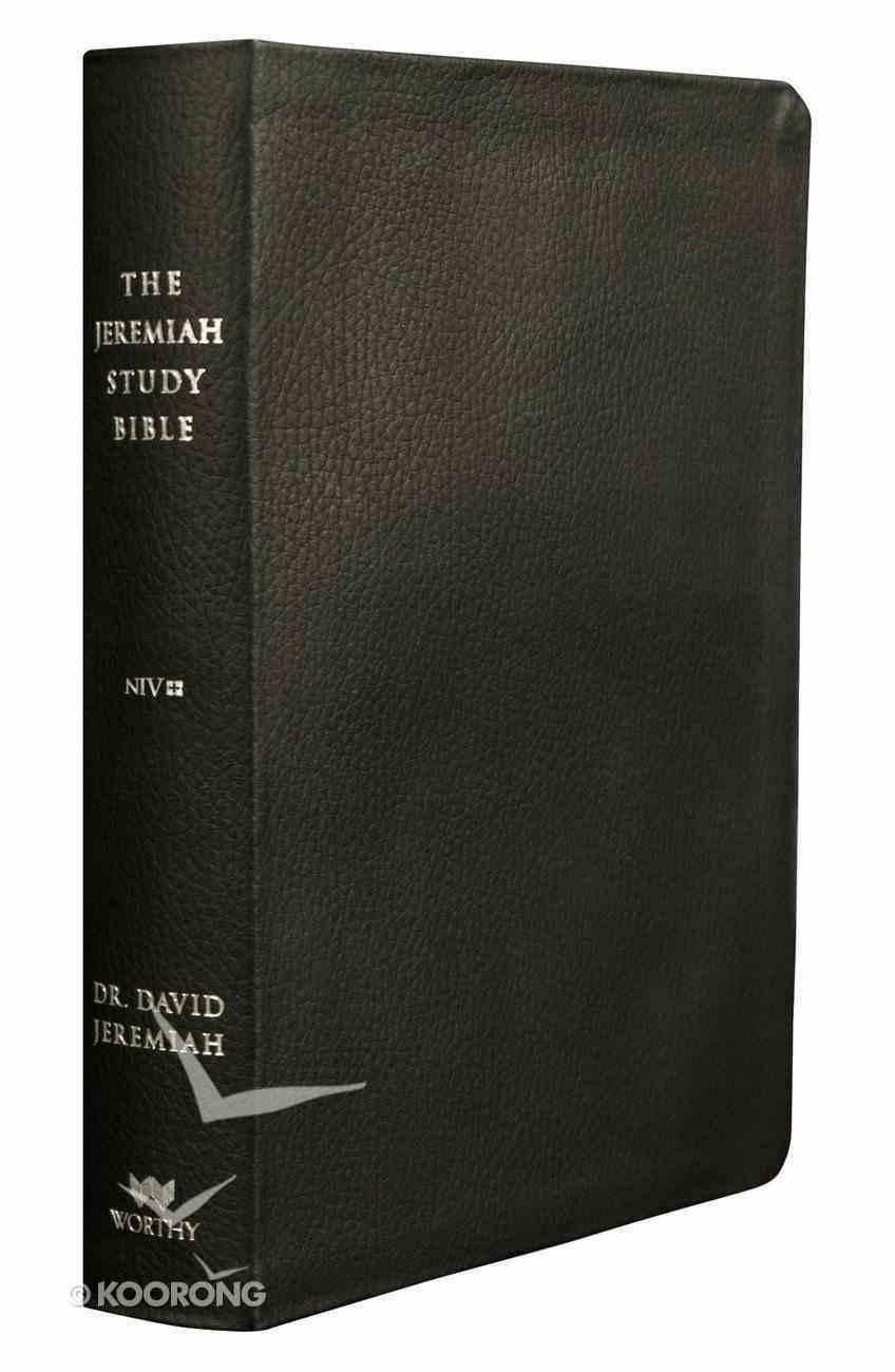 NIV Jeremiah Study Indexed Bible Black With Burnished Edges Leatherluxe Imitation Leather