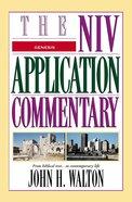 Genesis (Niv Application Commentary Series) Hardback