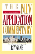 Leviticus/Numbers (Niv Application Commentary Series) Hardback