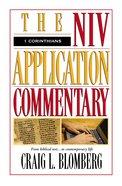 1 Corinthians (Niv Application Commentary Series) Hardback