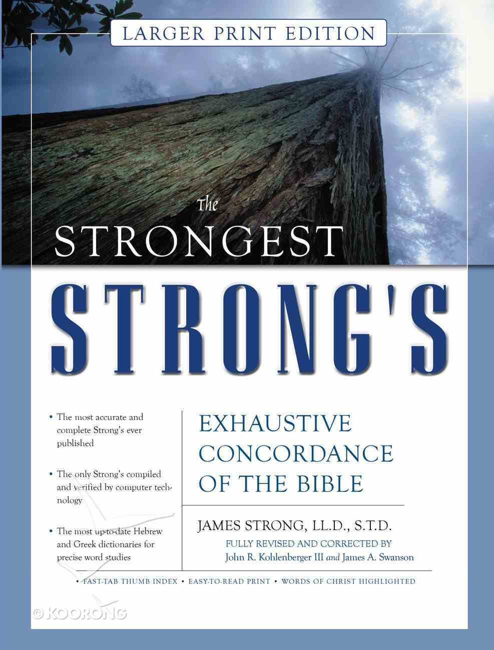 The Strongest Strong's (Larger Print Edition) Hardback