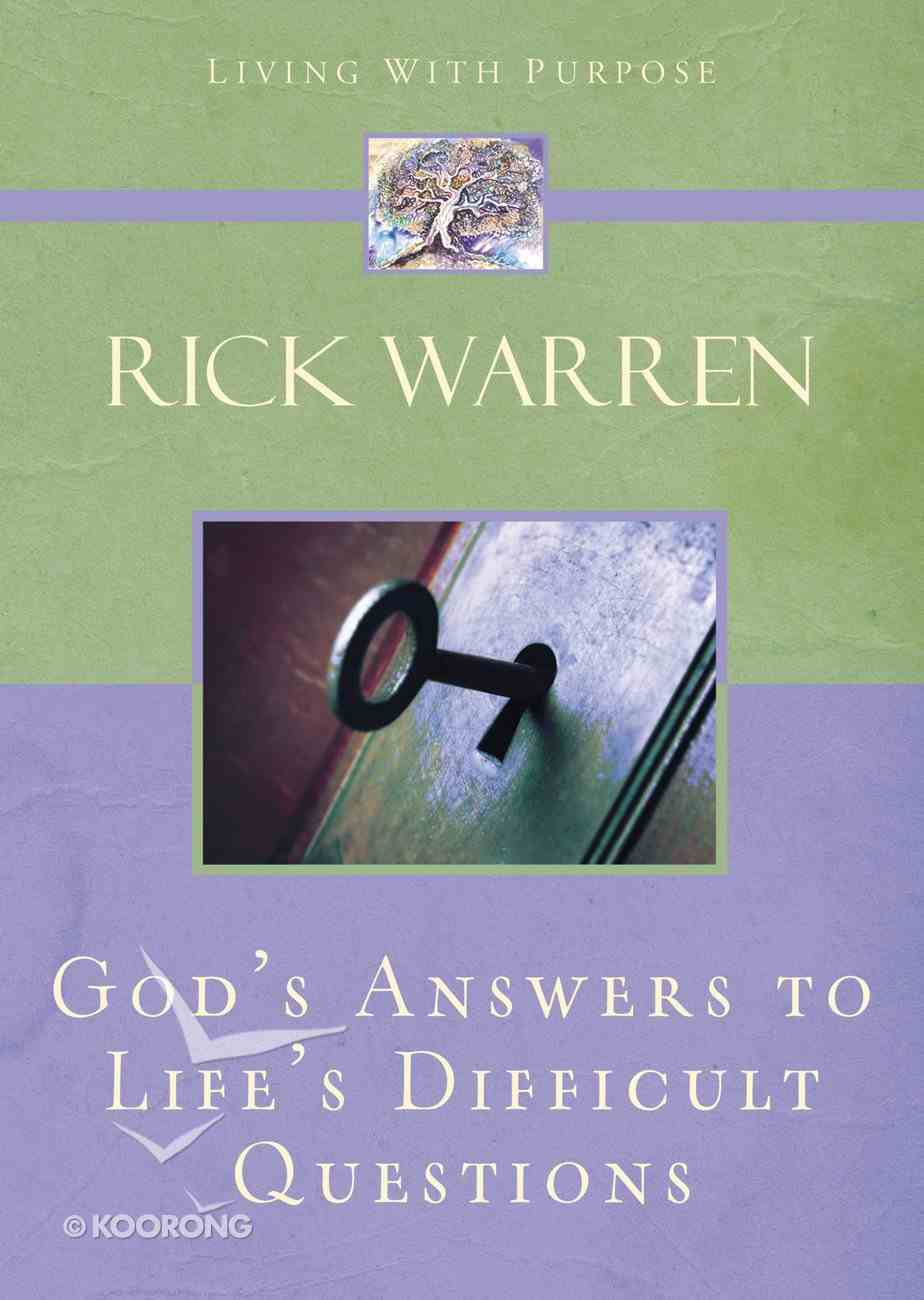 God's Answers to Life's Difficult Questions Hardback