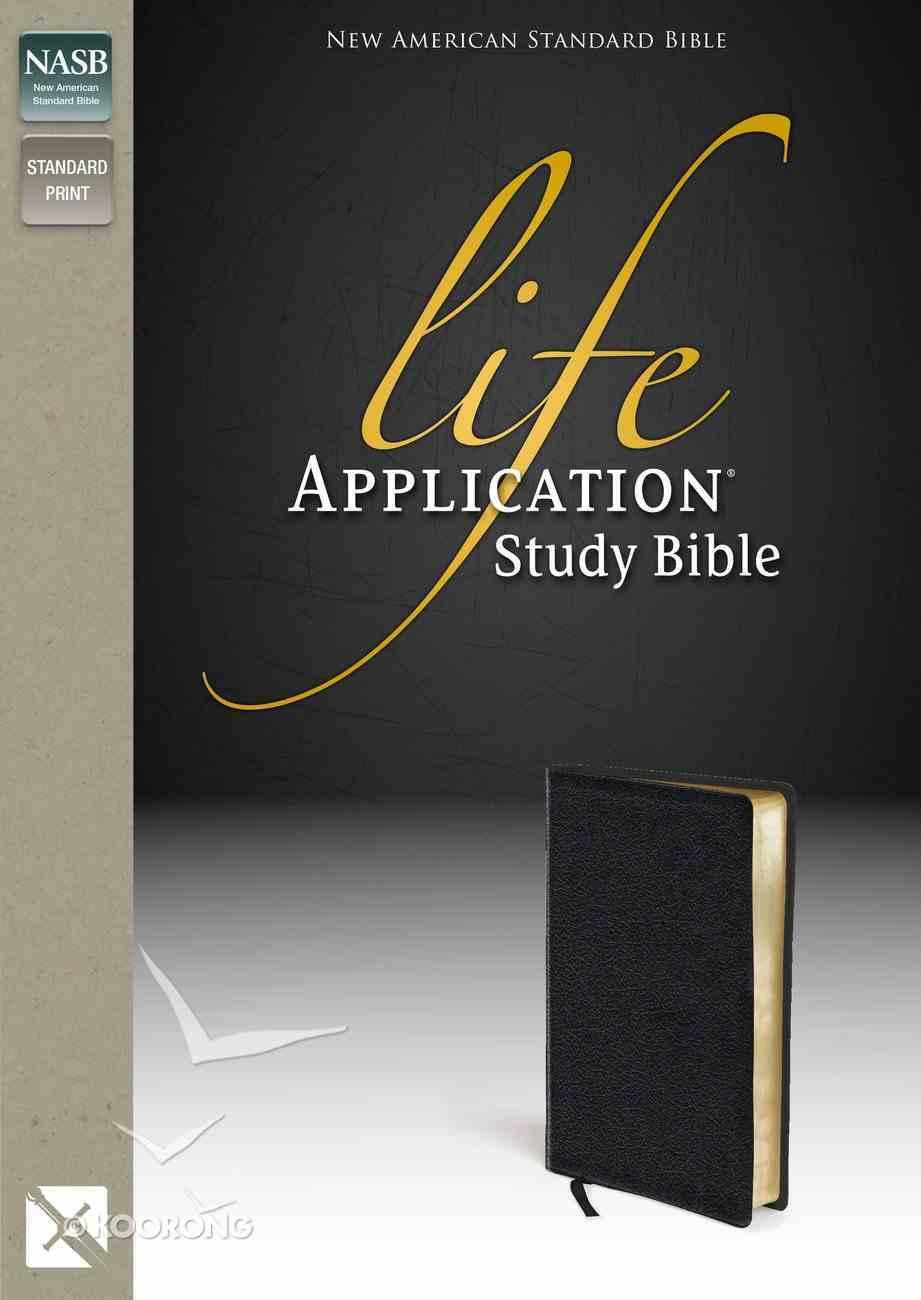 NASB Life Application Study Bible Black (Black Letter Edition) Bonded Leather