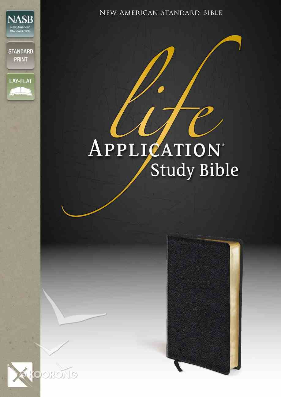 NASB Updated Life Application Bible Black (Black Letter Edition) Genuine Leather
