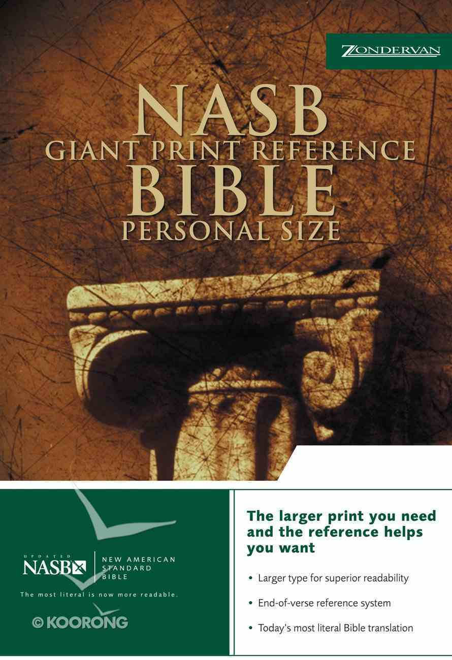 NASB Updated Giant Print Reference Black Personal Size (Red Letter Edition) Bonded Leather