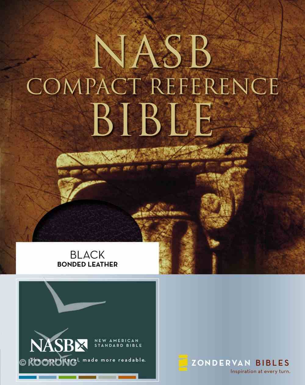 NASB Updated Compact Reference Black (Red Letter Edition) Bonded Leather