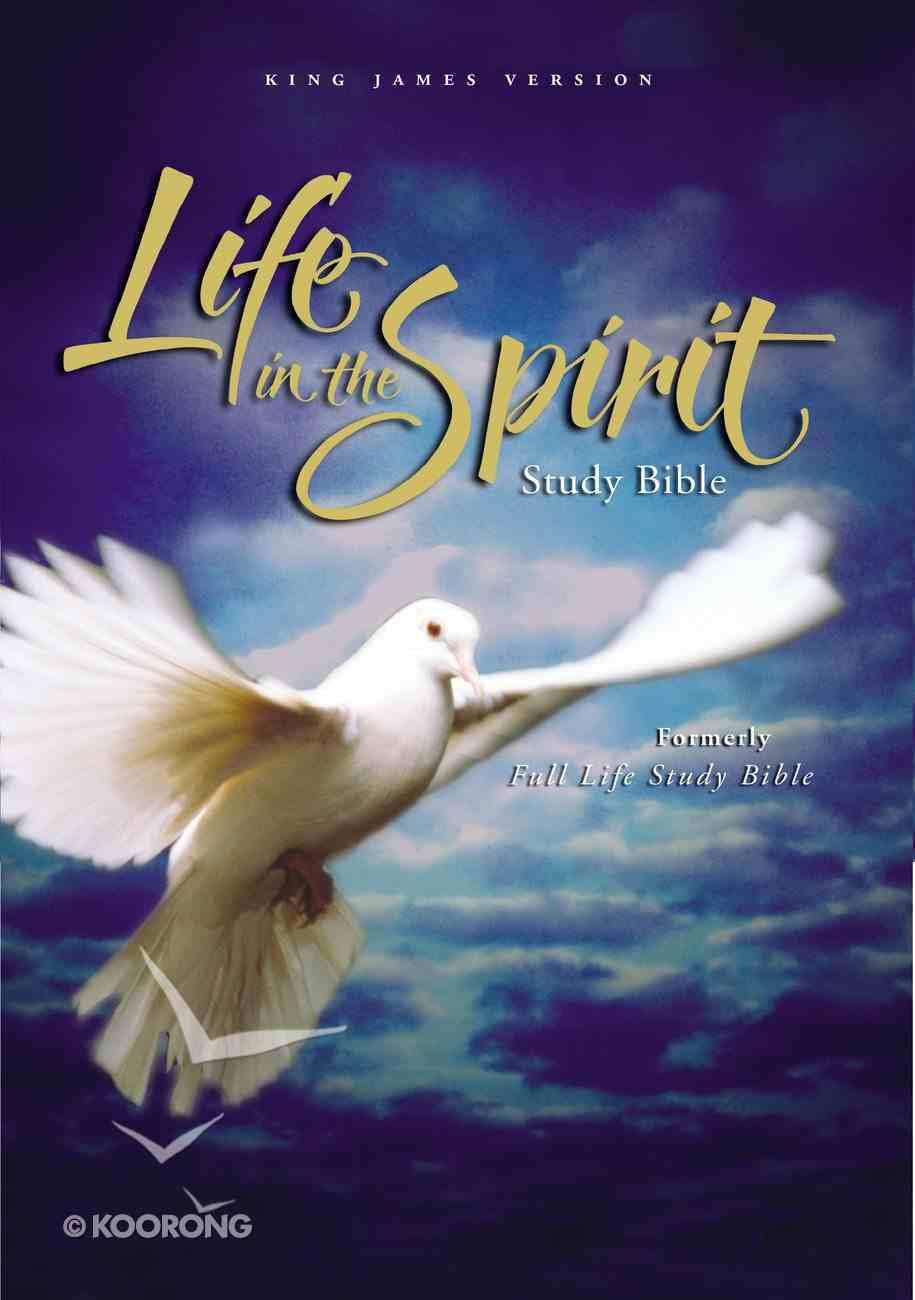 KJV Life in the Spirit Study Black Bonded Leather