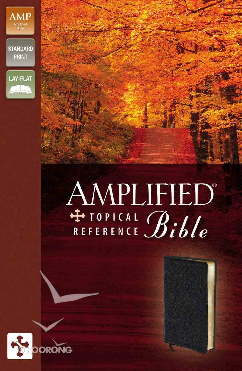 Amplified Topical Reference Study Black Bonded Leather