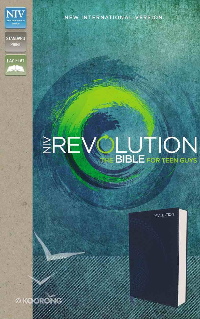 NIV Revolution Bible For Teen Guys Blue (Black Letter Edition) Premium Imitation Leather