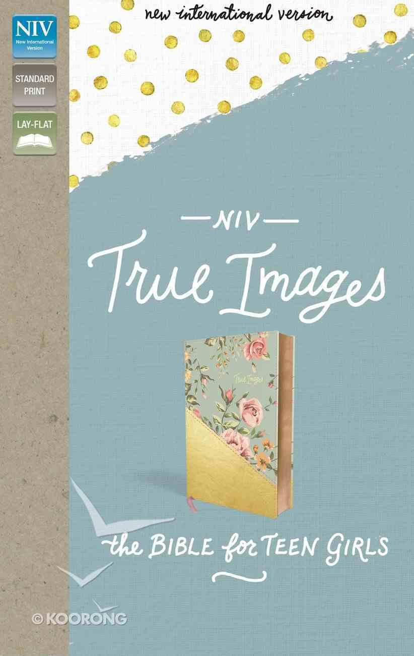 NIV True Images Bible For Teen Girls Blue/Gold (Black Letter Edition) Premium Imitation Leather