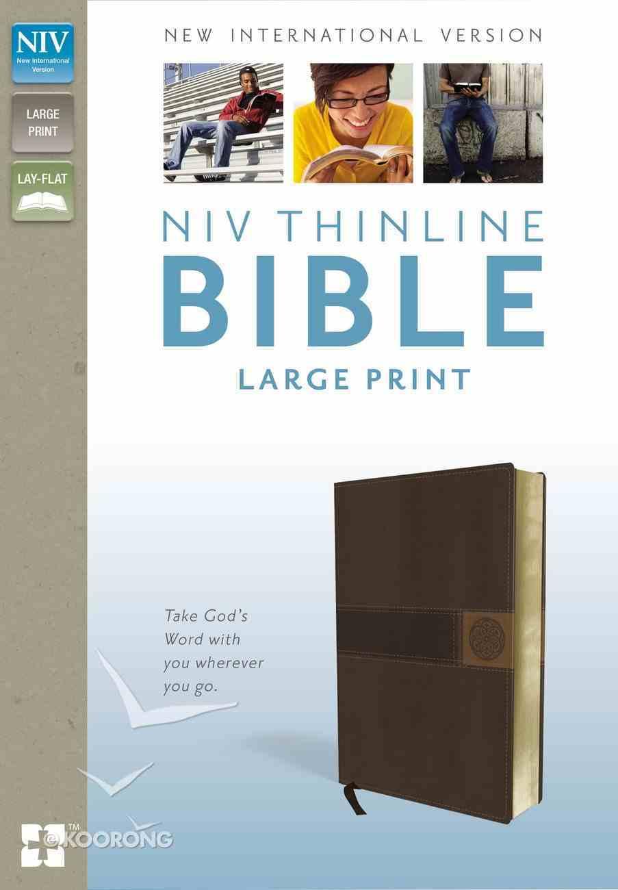 NIV Thinline Bible Large Print Brown Italian Duo-Tone Imitation Leather