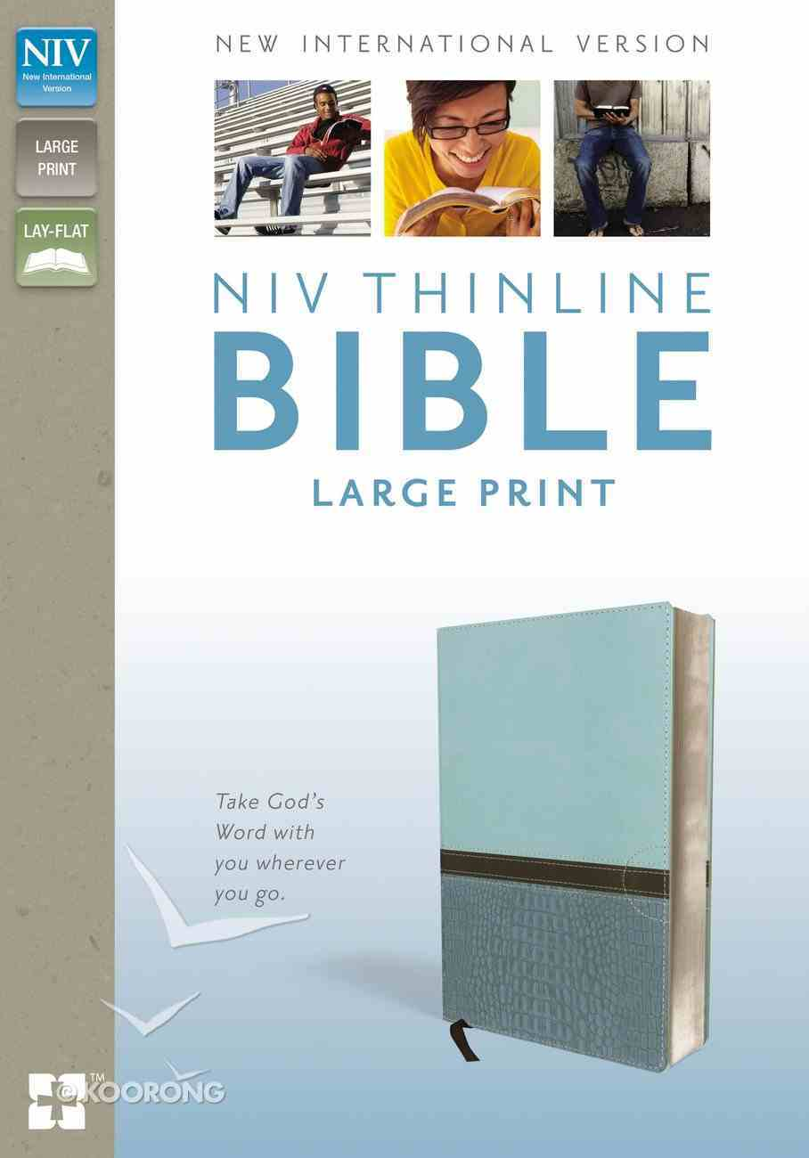 NIV Thinline Bible Large Print Turquoise Italian Duo-Tone Imitation Leather