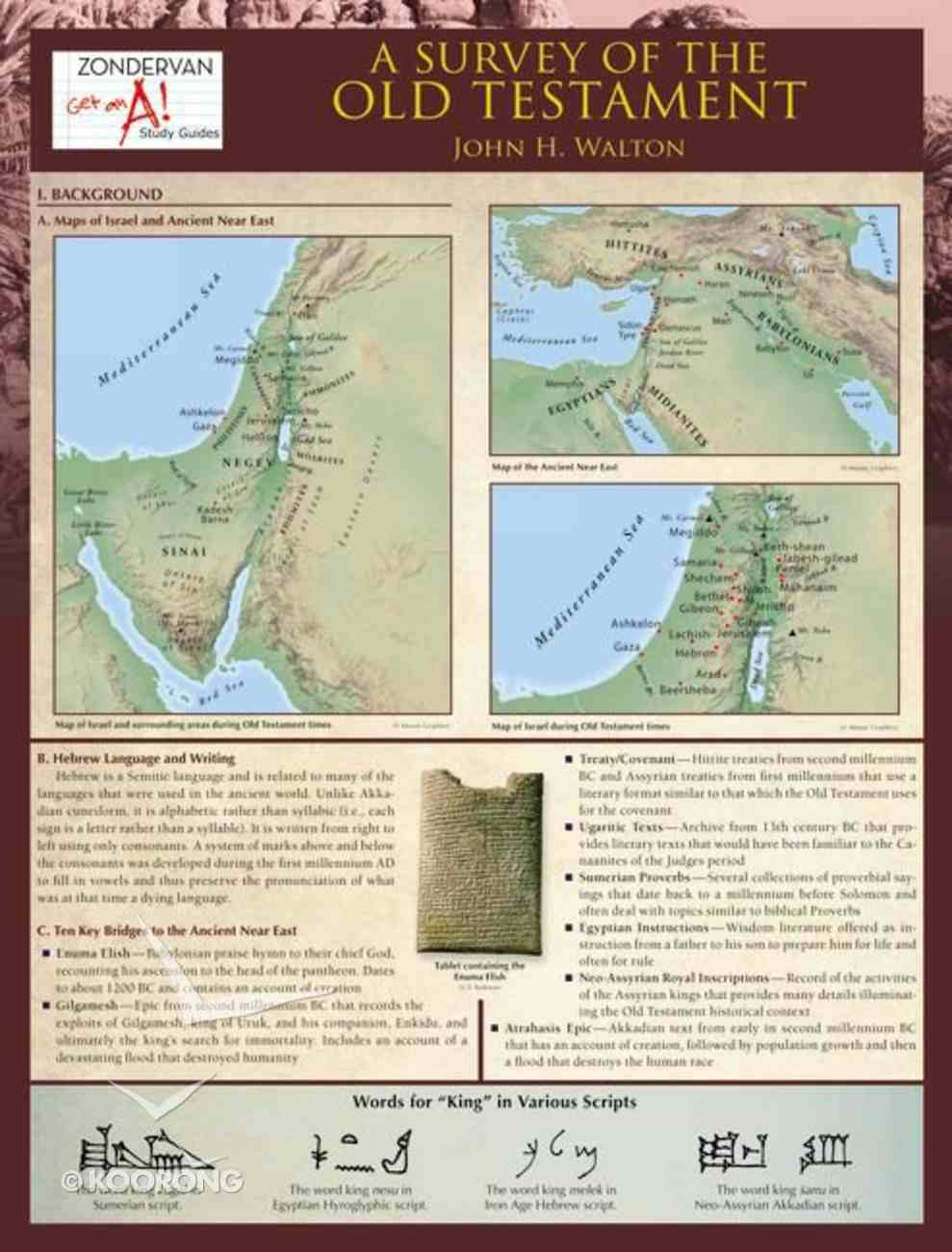 A Survey of the Old Testament (6 Laminated Sheets) Chart/card