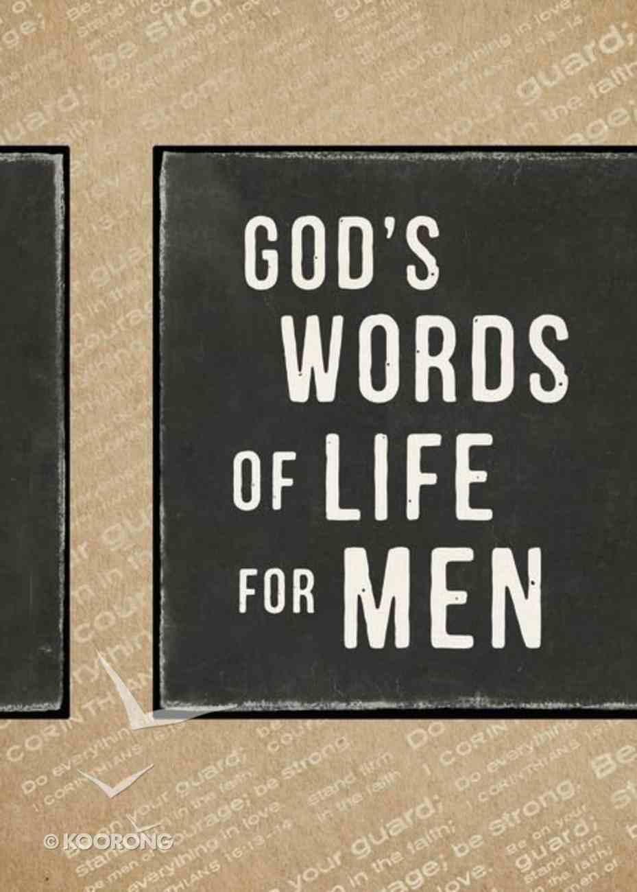 God's Words of Life For Men Paperback