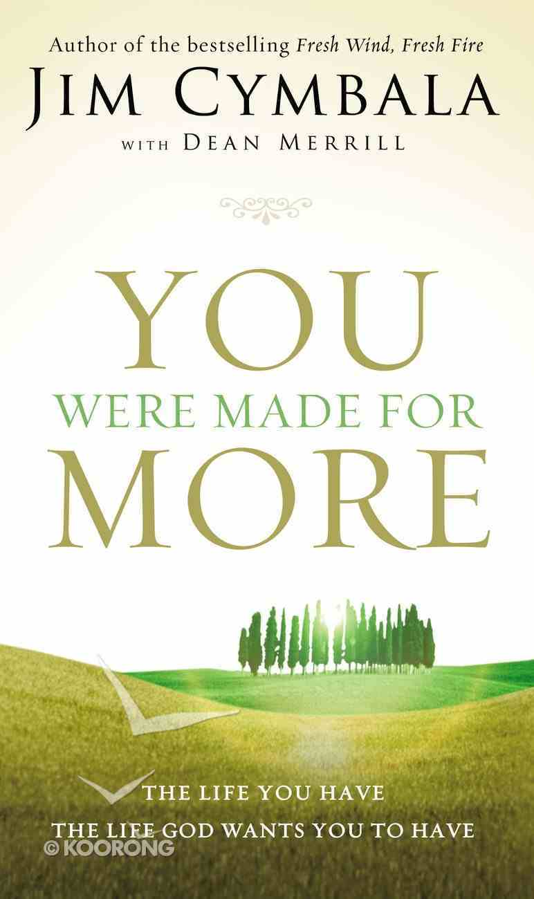 You Were Made For More: The Life You Have, the Life God Wants You to Have Paperback