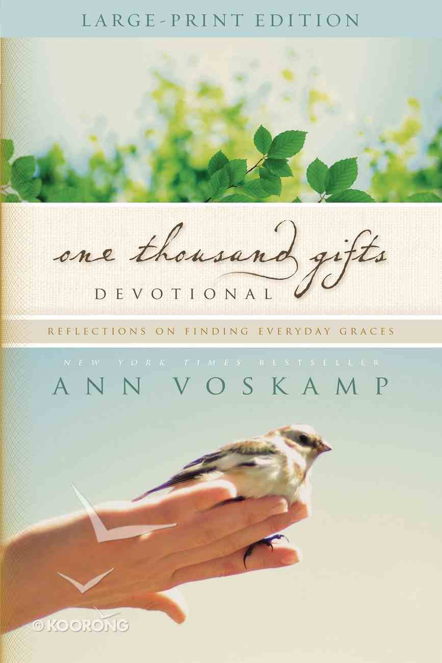 One Thousand Gifts Devotional (Large Print) Paperback