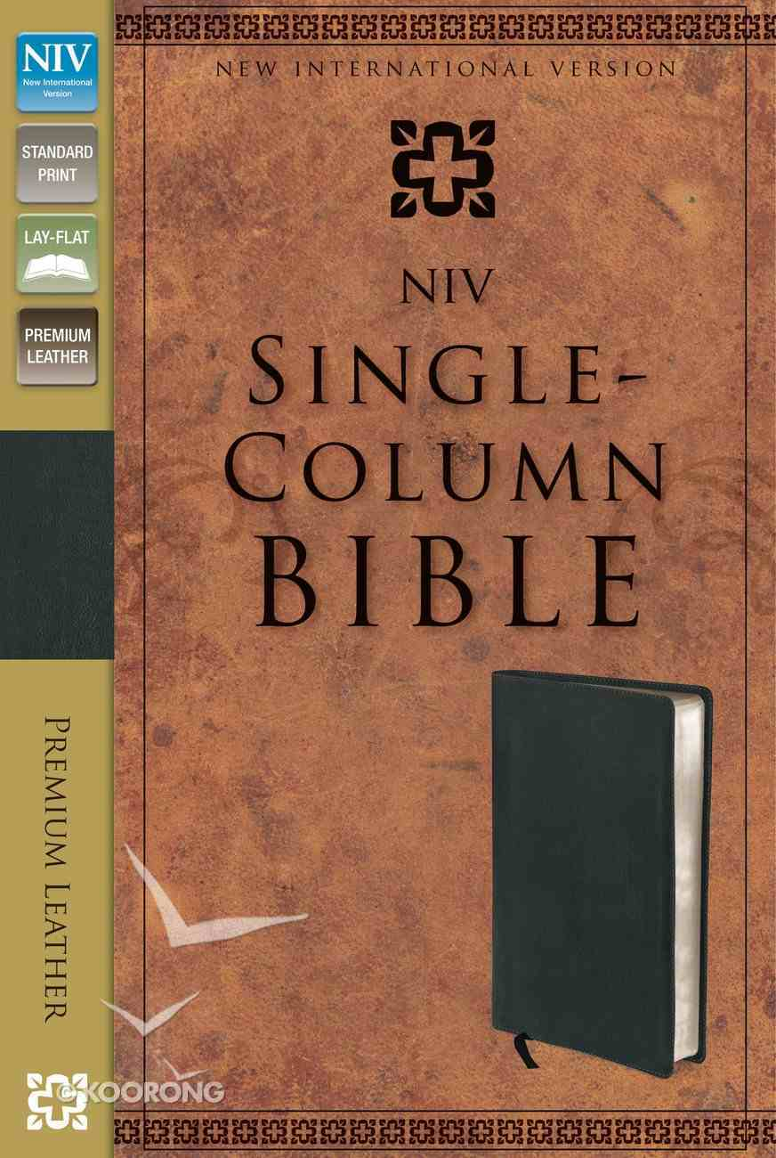 NIV Single-Column Reference Bible Ebony Genuine Leather