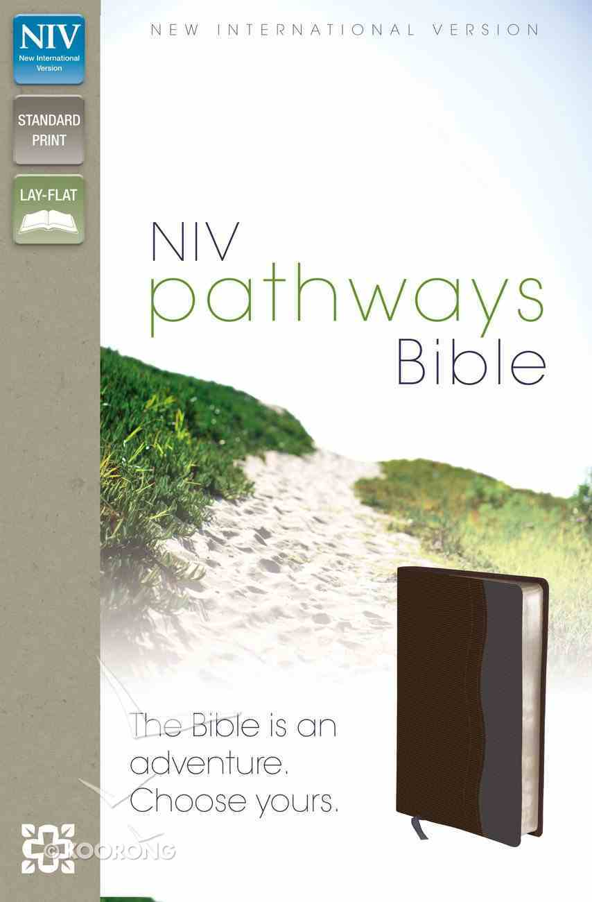 NIV Pathways Bible Chocolate/Charcoal Duo-Tone (Red Letter Edition) Imitation Leather