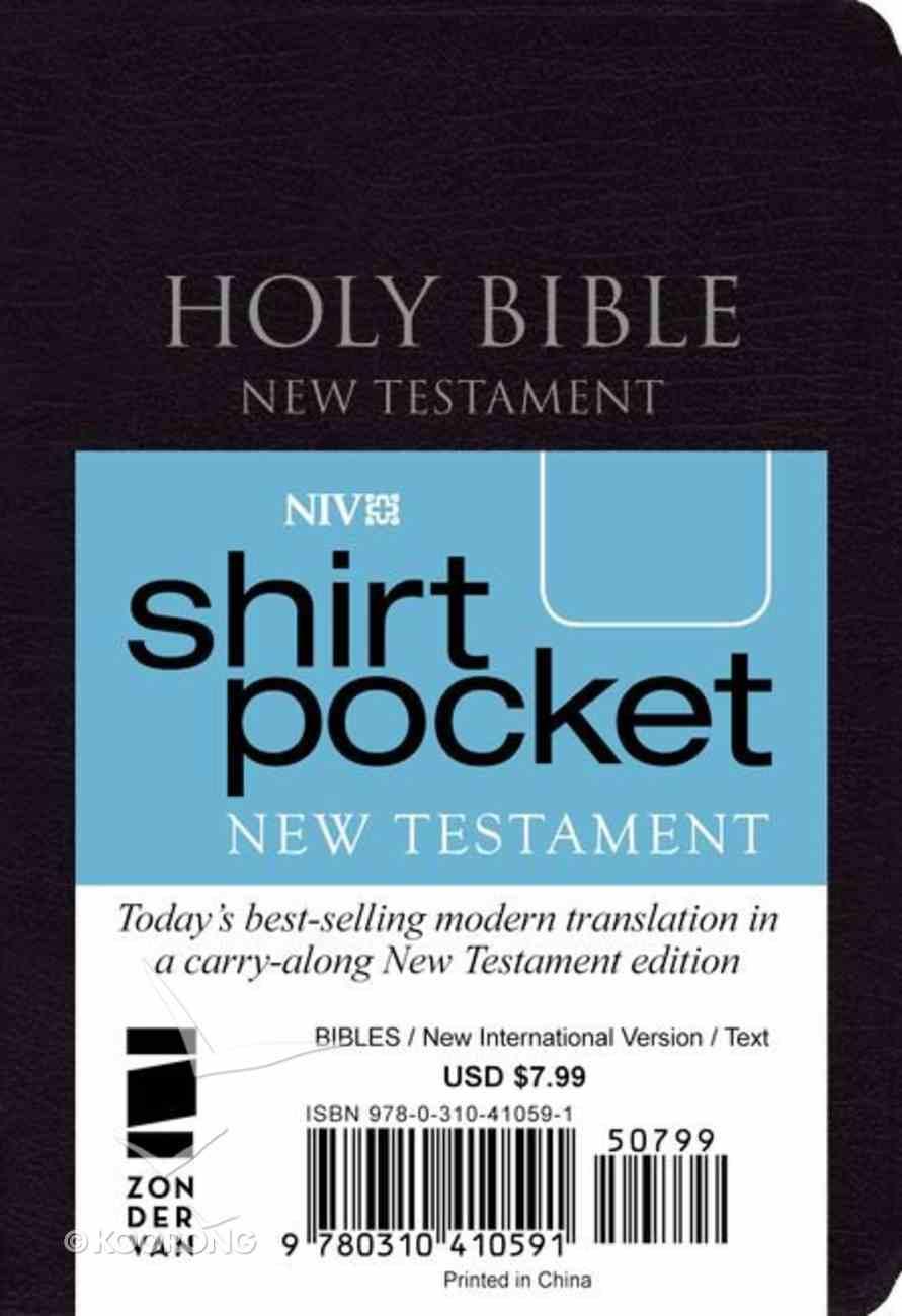 NIV Shirt Pocket Black New Testament (Red Letter Edition) Premium Imitation Leather