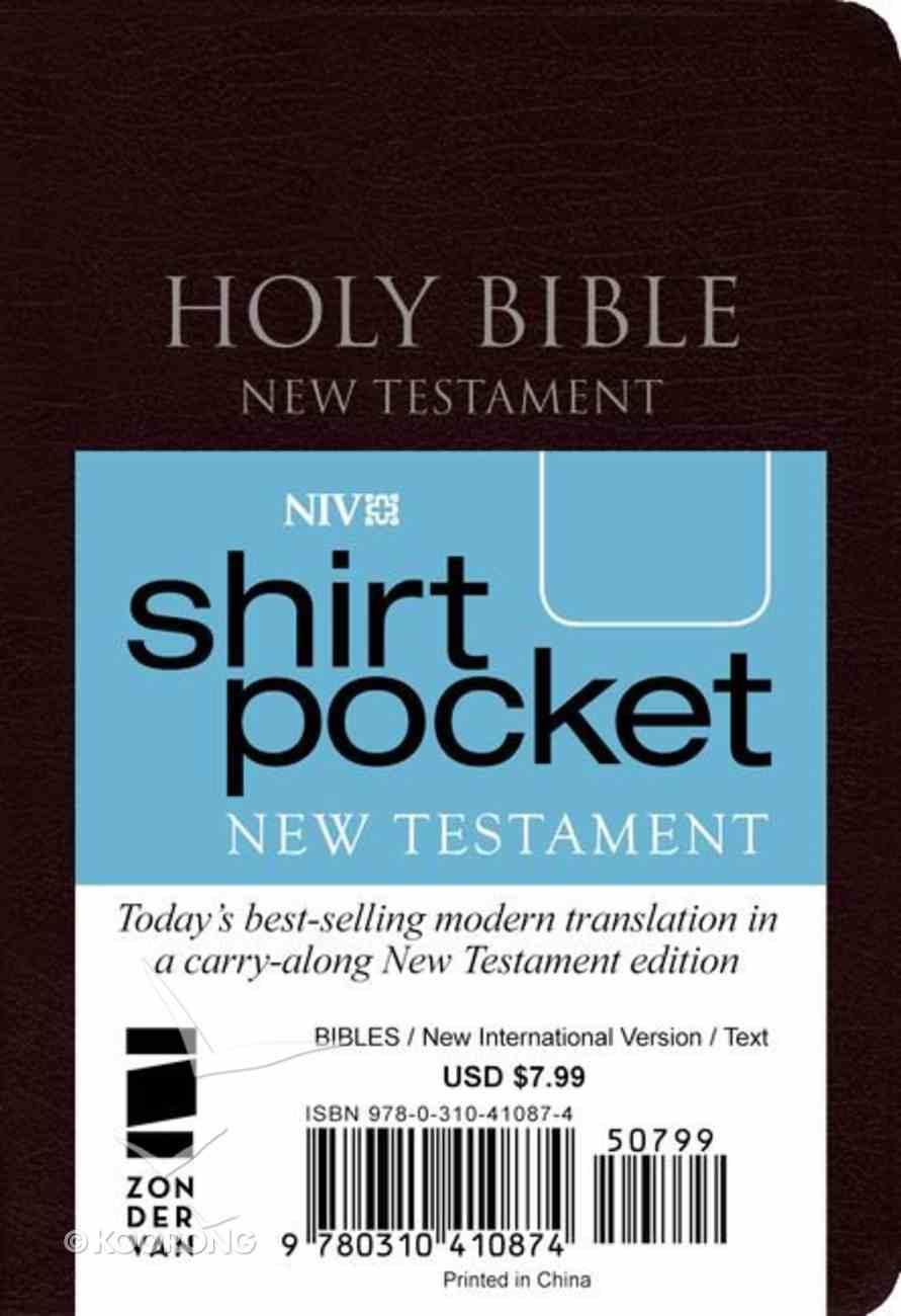 NIV Shirt Pocket Burgundy New Testament (Red Letter Edition) Premium Imitation Leather