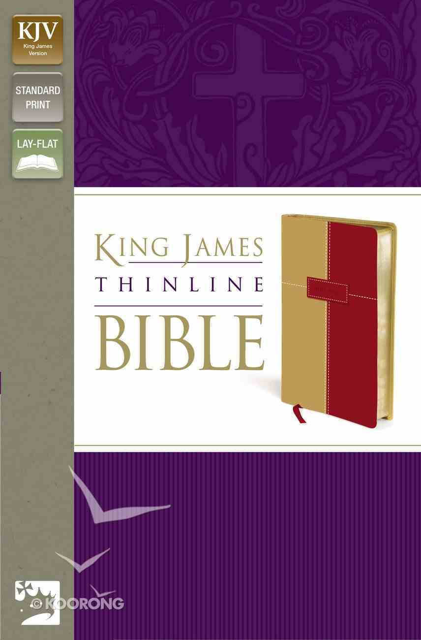 KJV Thinline Bible Italian Duo-Tone (Red Letter Edition) Imitation Leather