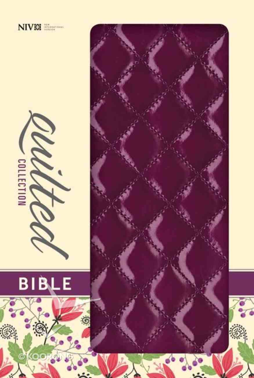 NIV Thinline Bible Quilted Plum (Red Letter Edition) Imitation Leather