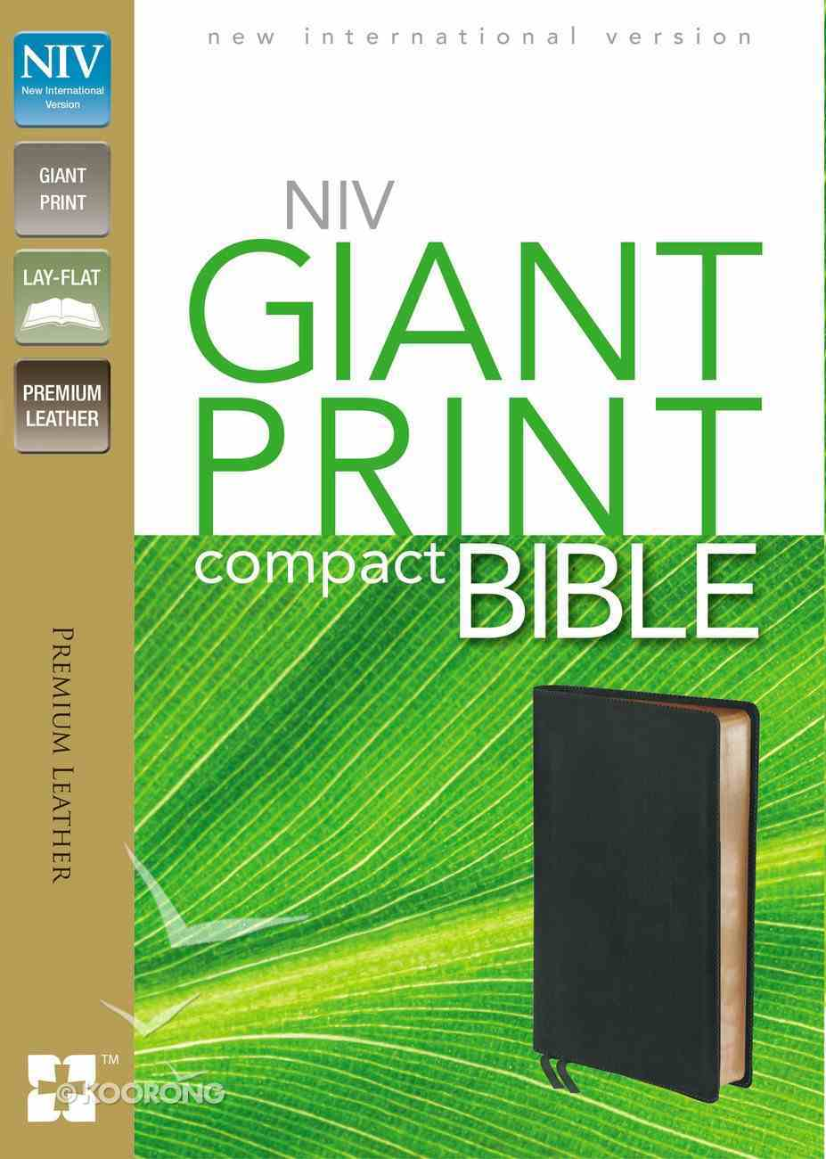 NIV Compact Giant Print Black (Black Letter Edition) Genuine Leather