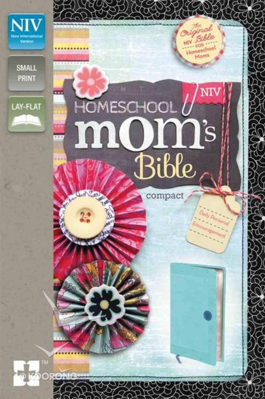 NIV Homeschool Mom's Compact Bible Italian Duo-Tone Turquoise Imitation Leather