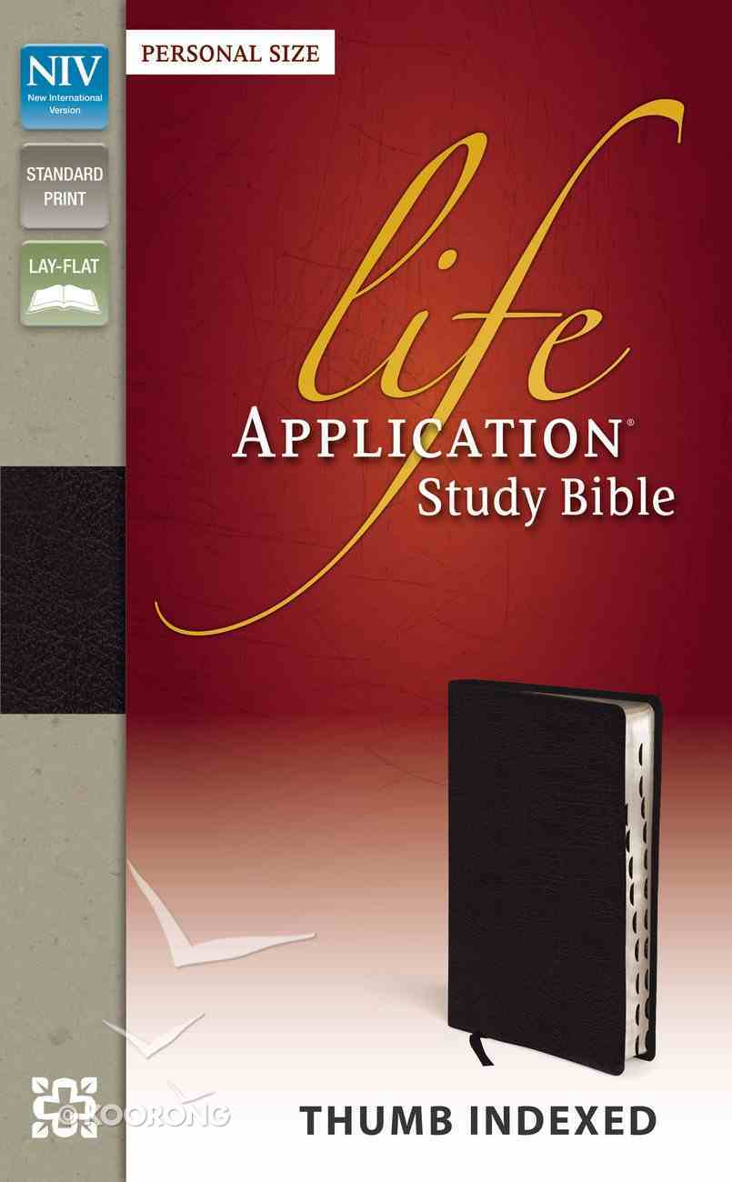 NIV Life Application Study Bible Personal Size Indexed Black (Red Letter Edition) Imitation Leather