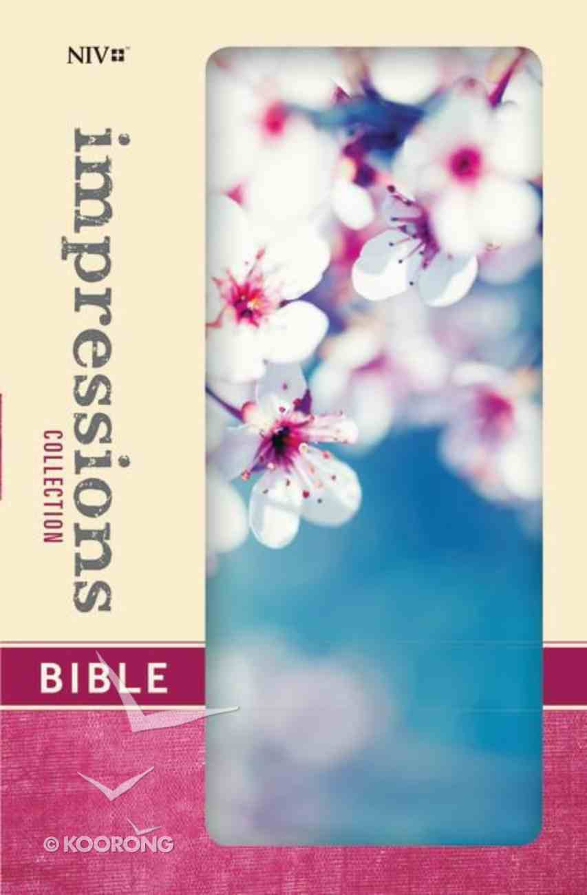 NIV Impressions Collection Bible Cherry Blossom (Red Letter Edition) (Limited Edition) Hardback