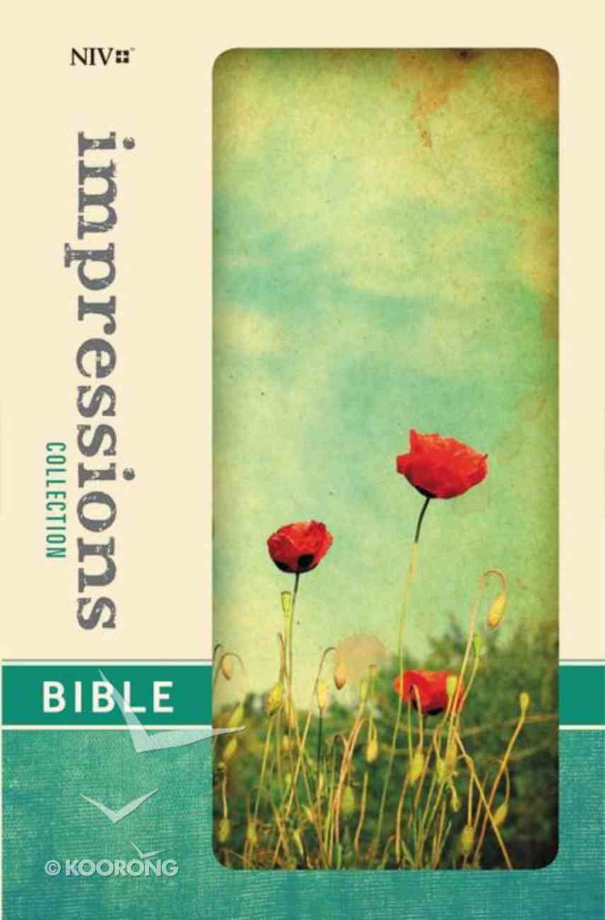 NIV Impressions Collection Bible Poppies (Red Letter Edition) (Limited Edition) Hardback