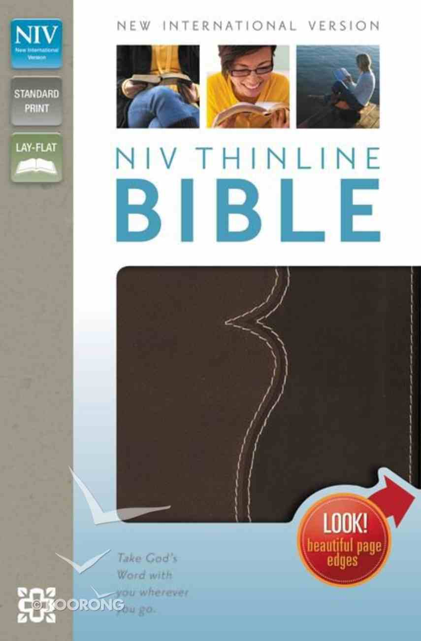 NIV Thinline Bible Italian Duo-Tone Chocolate/Espresso (Red Letter Edition) Imitation Leather
