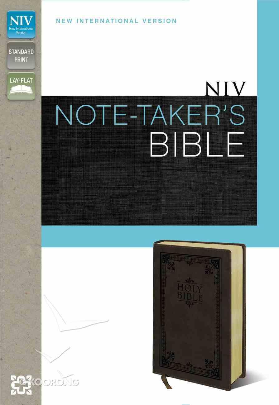 NIV Note Taker's Bible Italian Duo-Tone Brown Imitation Leather