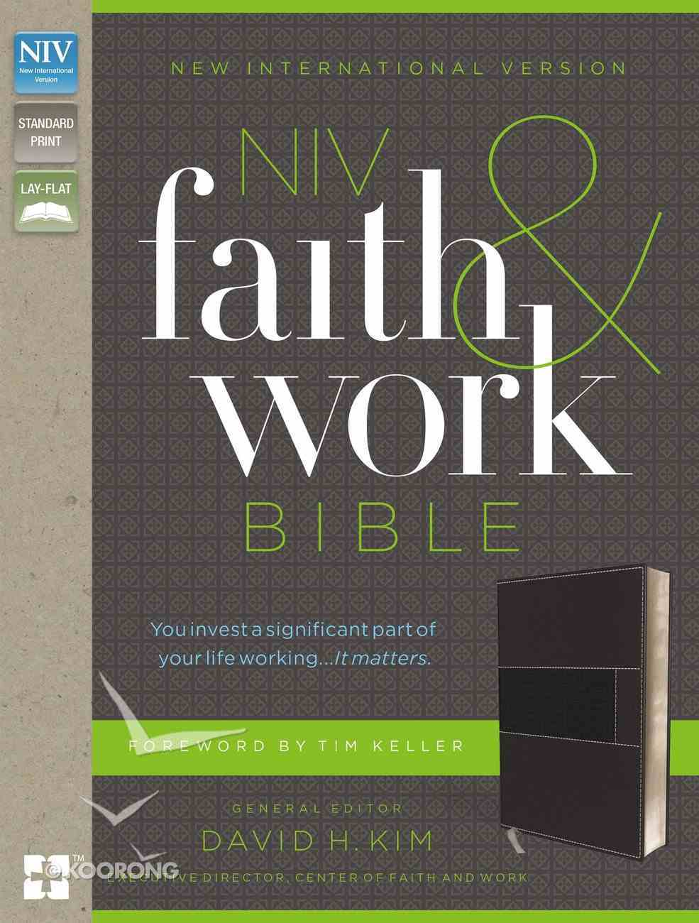 NIV Faith and Work Bible Gray (Black Letter Edition) Premium Imitation Leather