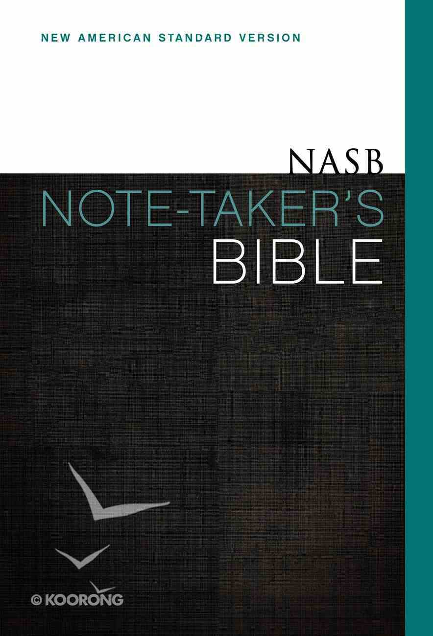 NASB Note-Taker's Bible (Red Letter Edition) Hardback