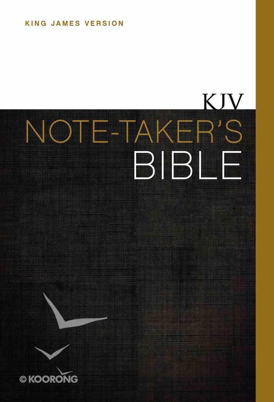 KJV Note-Taker's Bible (Red Letter Edition) Hardback