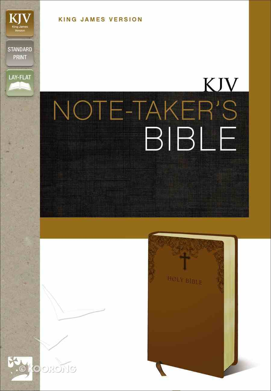 KJV Note-Taker's Bible Caramel (Red Letter Edition) Premium Imitation Leather
