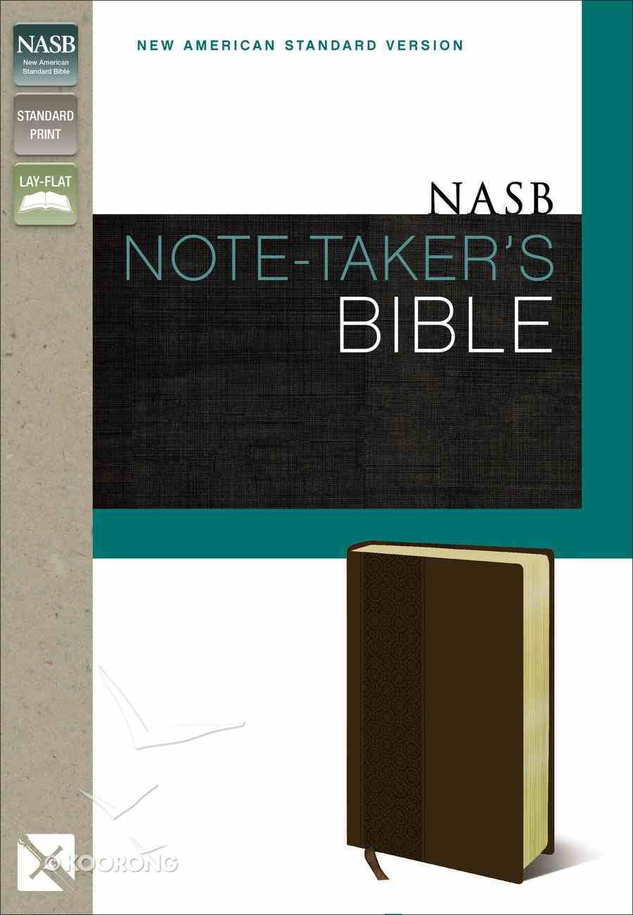 NASB Note-Taker's Bible Brown (Red Letter Edition) Premium Imitation Leather