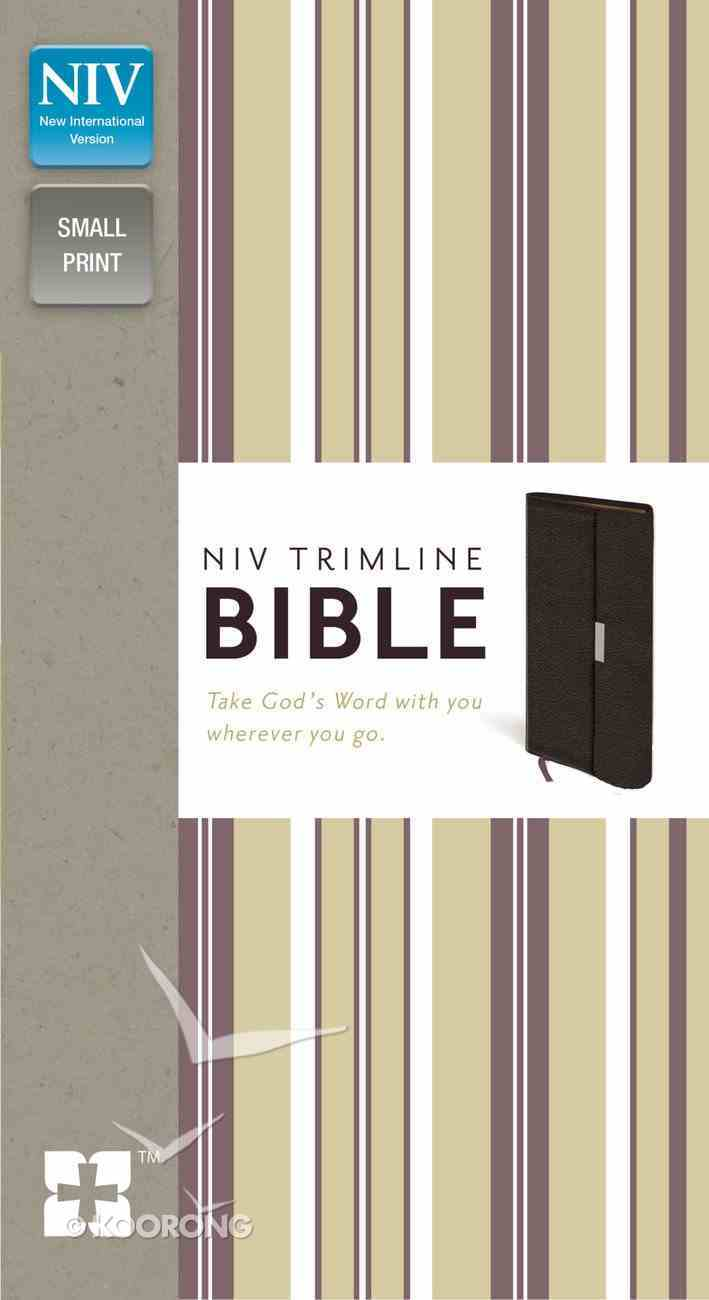 NIV Trimline Snap Closure Bible Burgundy (Red Letter Edition) Bonded Leather