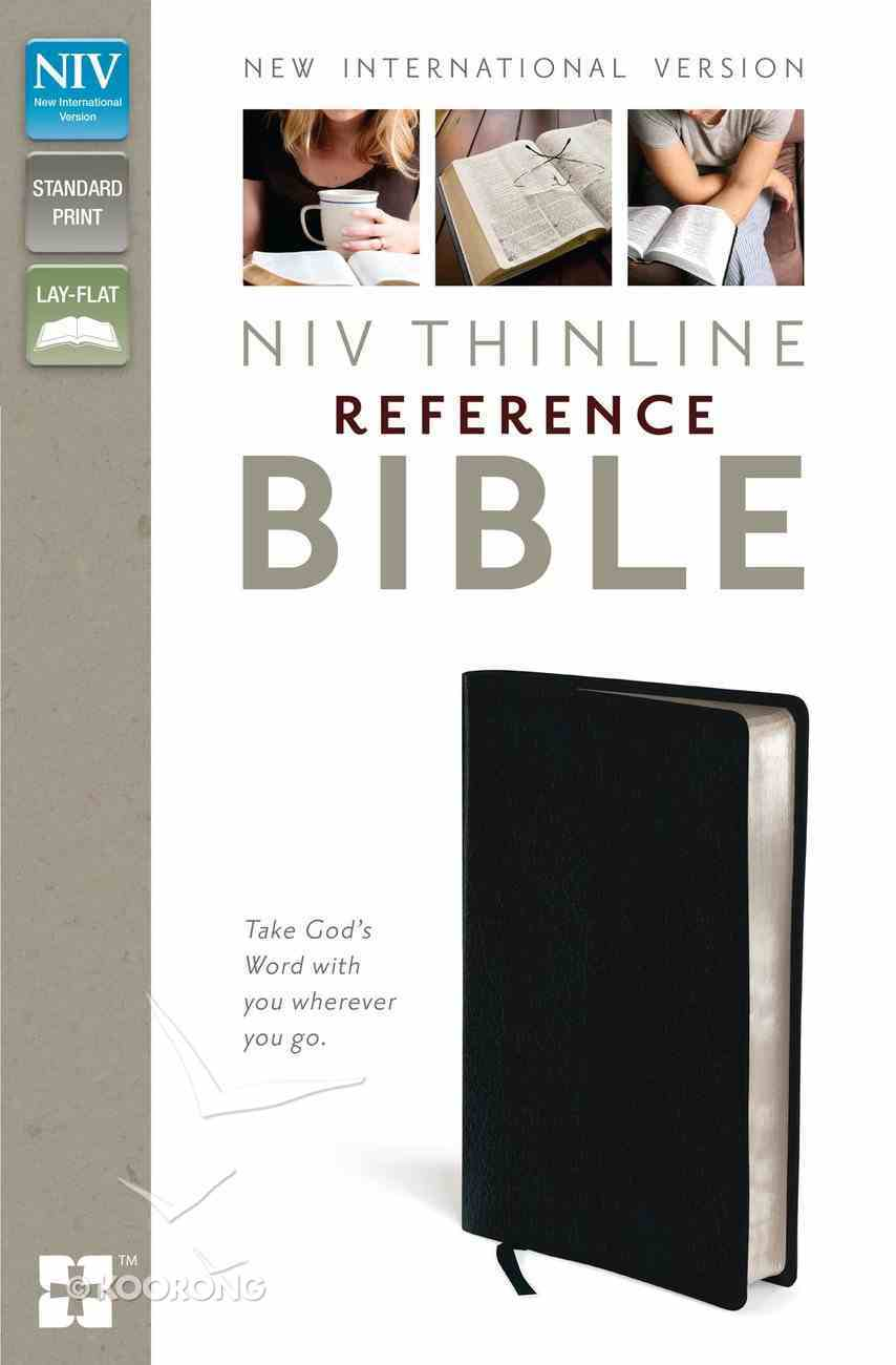 NIV Thinline Reference Bible Navy (Red Letter Edition) Bonded Leather
