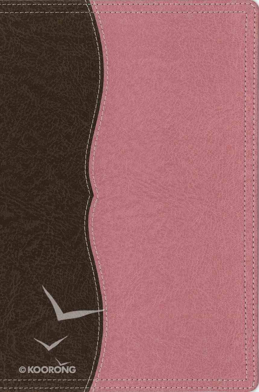 NIV Thinline Reference Large Print Chocolate Berry Creme (Red Letter Edition) Premium Imitation Leather