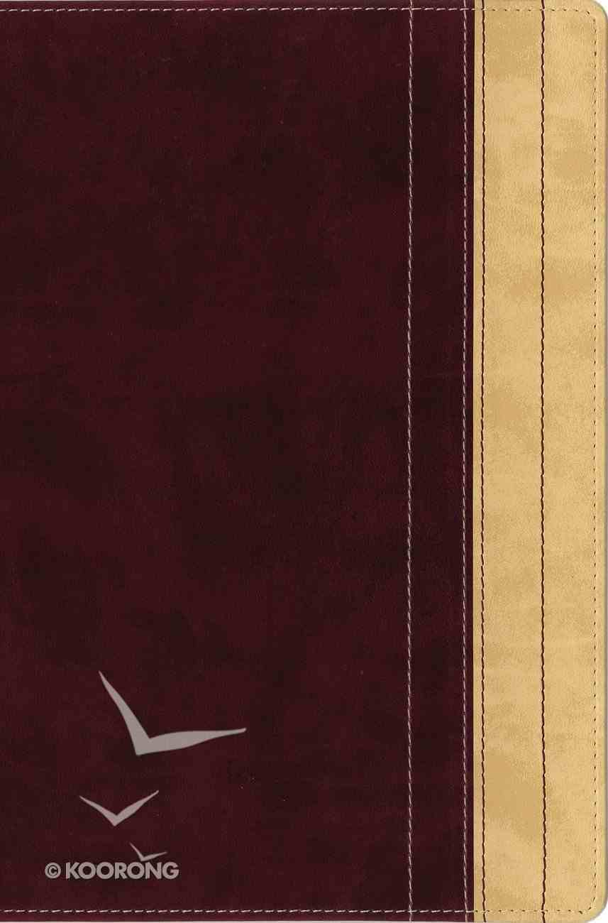 NIV Thinline Reference Large Print Dark Raspberry/Creme Brulee (Red Letter Edition) Premium Imitation Leather